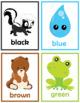 Cute Colors Flash Cards Instant Download PDF; Preschool, Kindergarten, School
