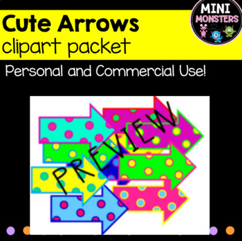 Cute Colourful Spotty Arrows Clipart Bundle