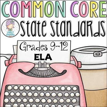 Grades 9 10 11 12 ELA Common Core Checklist for Multiple Grades