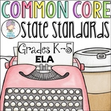 Grades K-5 ELA Common Core Checklist for Multiple Grades