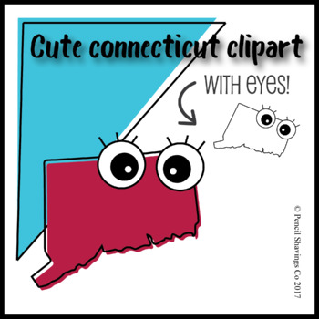 Cute Connecticut Clipart with Eyes!