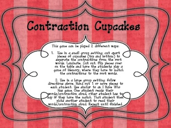 Cute Contraction Cupcakes!