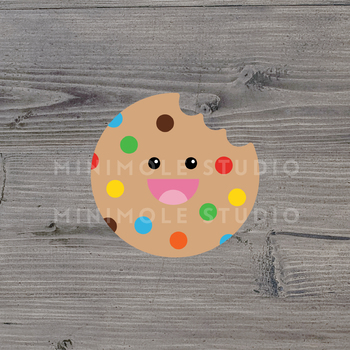 Cute Cookie SVG PNG Clip Art Graphic