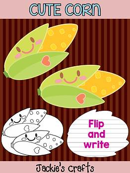 Cute Corn - Jackie's Crafts Activity, Writing, Fall and Autumn, Thanksgiving