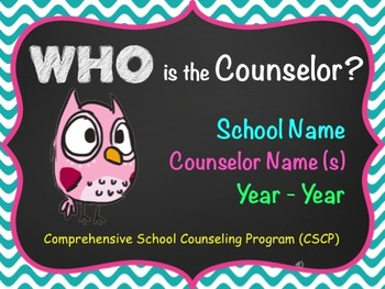 Counselor's Presentation - Let them know what you do! New Design