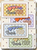 Cute Country Thank You Cards - Print on Business Card Stock - 10 Digital Papers