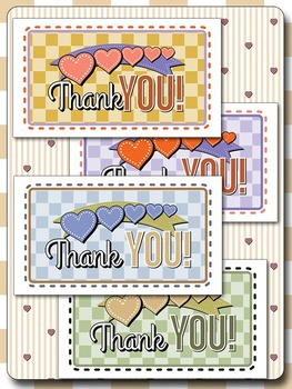 Cute Country Thank You Cards - Print on Business Card Stoc