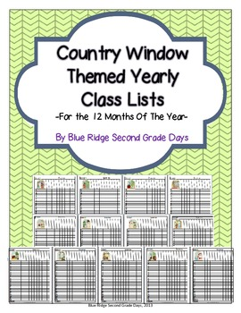 Cute Country Window Themed Class Lists