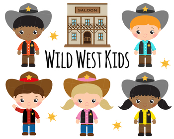 Cute Cowboy and Wild West instant download png, svg vector clipart set