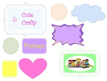 Cute & Crafty Frames Pack ( for all grades )
