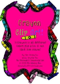 Cute Crayon Doodles Clip Art Set