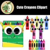 Cute Crayons Clipart