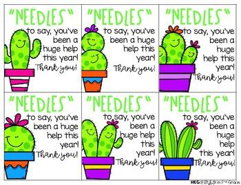 Cute & Crazy Cacti Appreciation Tags