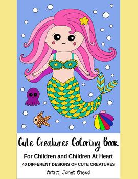Cute Creatures Coloring Book - Printable PDF Book