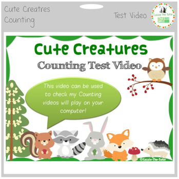 Cute Creatures Counting - Test Vidoeo