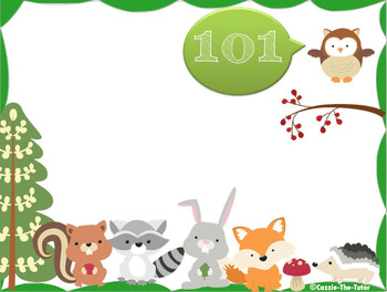 Cute Creatures Counting - Timed Power Point (Video) Pack for 1st Grade