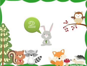 Cute Creatures Counting - Timed Power Point (Video) Pack for Kindergarten