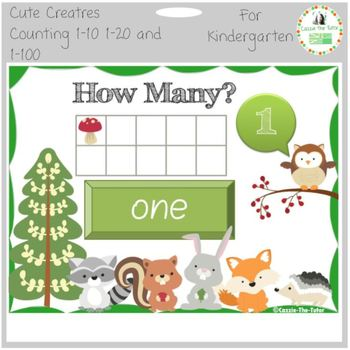 Cute Creatures Counting - Timed Power Point (Video) Pack f