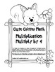 """Cute Critter Math"" Multiply 4 - Common Core - Multiplication Fun! (black line)"