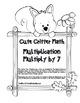 """Cute Critter Math"" Multiply 7 - Common Core - Multiplication Fun! (black line)"