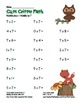 """Cute Critter Math"" Multiply 7 Common Core Multiplication Fun! (color&blackline)"