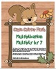 """Cute Critter Math"" Multiply 7 - Common Core - Multiplication Fun! (full color)"