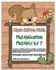 """Cute Critter Math"" Multiply 7 - Common Core - Multiplicat"