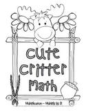 """Cute Critter Math"" Multiply 8 - Common Core - Multiplication Fun! (black line)"