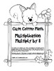 """Cute Critter Math"" Multiply 8 - Common Core - Multiplication Fun! (black line)"