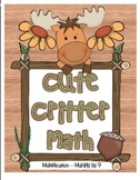 """Cute Critter Math"" Multiply 9 - Common Core - Multiplication Fun! (full color)"