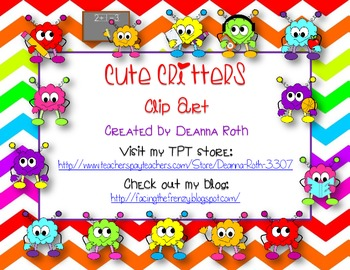 Cute Critters Clip Art for Personal/Commercial Use