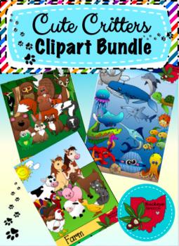 Cute Critters Clipart Bundle