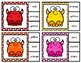 Cute Critters Color Word Clip Cards
