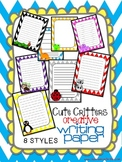Cute Critters Creative Writing Paper