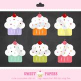 Cute Cupcake Digital Clip Art Set - by Sweet Papers