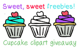 13 Cute Cupcake clipart, personal or commercial use