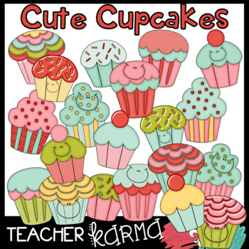Cute Cupcakes with Smiley Faces