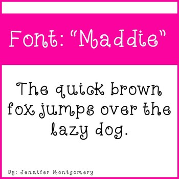 "Cute Curly Font- ""Maddie"""