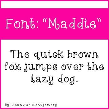 "Cute Curly Font- ""Maddie"""