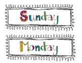 Cute Days of the Week