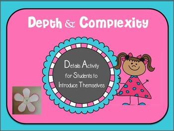Cute Depth & Complexity Details Activity - Details About Me!
