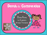 Cute Depth & Complexity Details Activity - Details About Me!