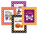 Cute Designs for Halloween Trick or Treat Bag Labels!