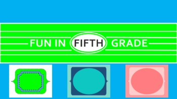Cute Digital Framed Paper: Green, Blue, Pink