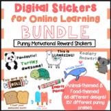 Cute Digital Stickers for Online Learning BUNDLE (Google Classroom & Seesaw)