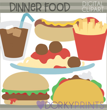 Cute Dinner Food Clipart