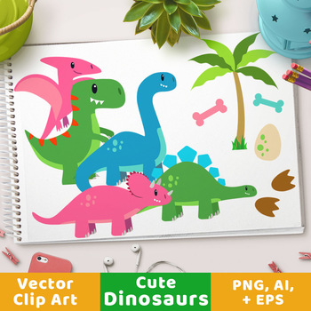 Cute Dinosaur Clipart T Rex Clipart Triceratops Clipart Dino Party