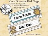 Cute Dinosaur Desk Tags