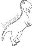 Cute Dinosaur - Outline