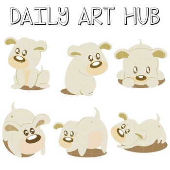 Cute Dogs Clip Art - Great for Art Class Projects!